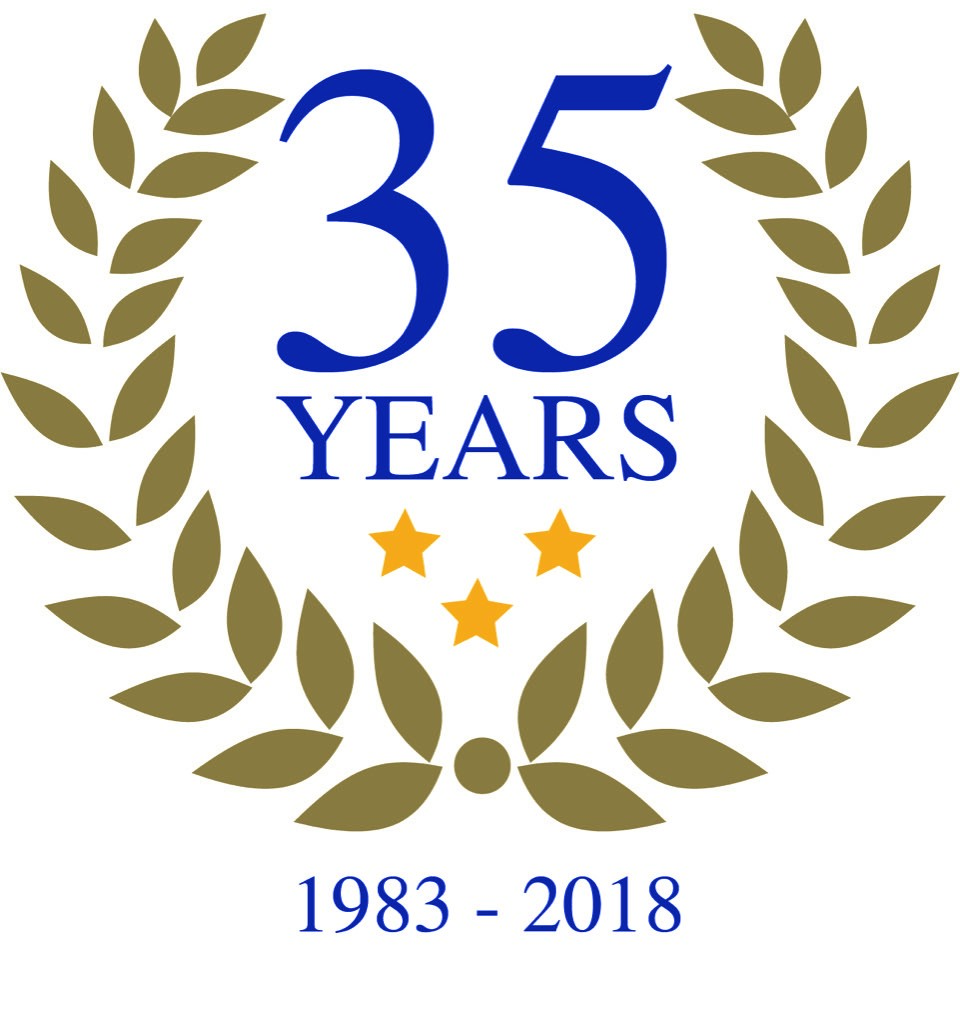 Jeaton 35 years trading badge logo