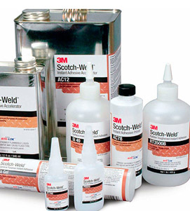 Collection of 3M Scotch-Weld adhesives