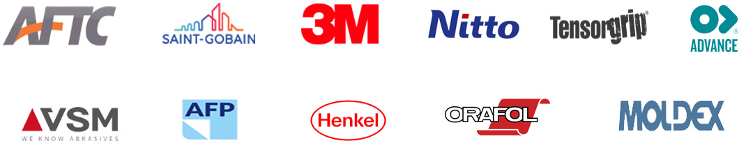 3M, Nitto, Henkel, and more product logos